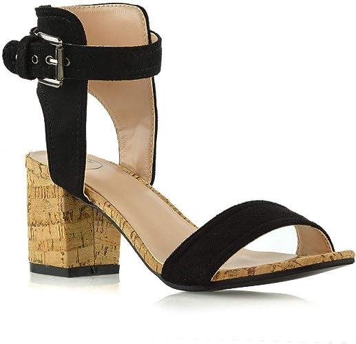 Womens Low Mid Heel Sandals Ladies