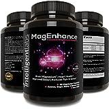 MagEnhance Best Magnesium Supplement, Magnesium-L-Threonate Complex, with Magnesium Glycinate and Taurate   Brain, Heart, Sleep, Memory and Fibromyalgia, 100% Money Back Guarantee! Vitamin Magnesium.