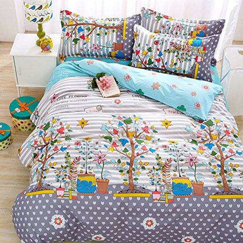 Duvet cover,autumn and winter individual double Quilt cover dorm room Comforter cover Bedding set (Include:Quilt coverx1)-E 59x78.7inch(150x200cm)