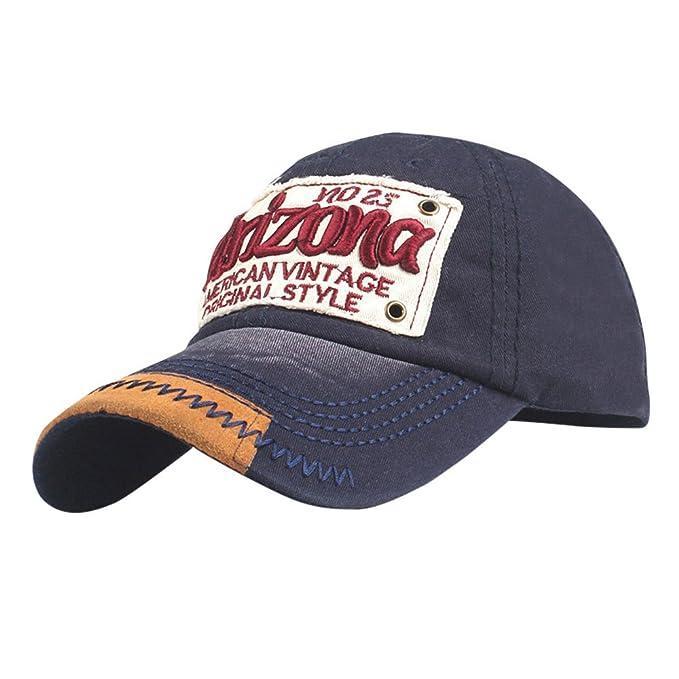 Modaworld Gorras Beisbol,Unisex Gorra de béisbol algodón Mezclado Motocicleta Gorra molienda Borde Haga Viejo Sombrero Baseball Cap Hat Outdoor Hat: ...