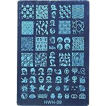 Davidsonne Halloween Nail art Tips Image Stamp Plates Polish Stamping Manicure Image DIY HWH-09 by Davidsonne
