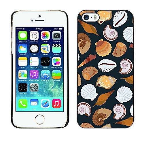 Premio Sottile Slim Cassa Custodia Case Cover Shell // V00002032 motif de coquillages // Apple iPhone 5 5S 5G