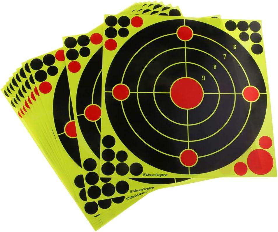 Toygogo 20 Blatt Selbstklebende Schie/ßscheibe Durchmesser 30 cm Splatter Scheiben Schie/ßaufkleber Set F/ür Outdoor Und Indoor Sportarten