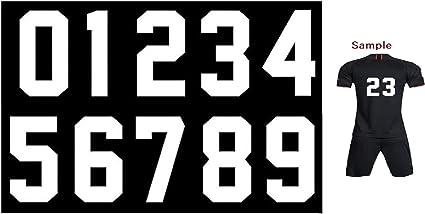 N/úmeros para planchar por transferencia de calor en camisetas deportivas color negro