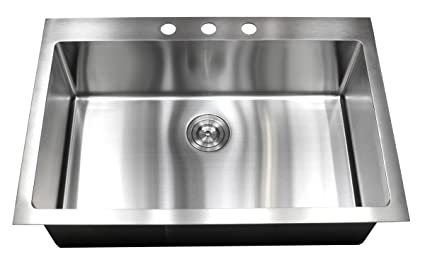 Lovely 33u0026quot; X 22u0026quot; Single Bowl Kitchen Sink