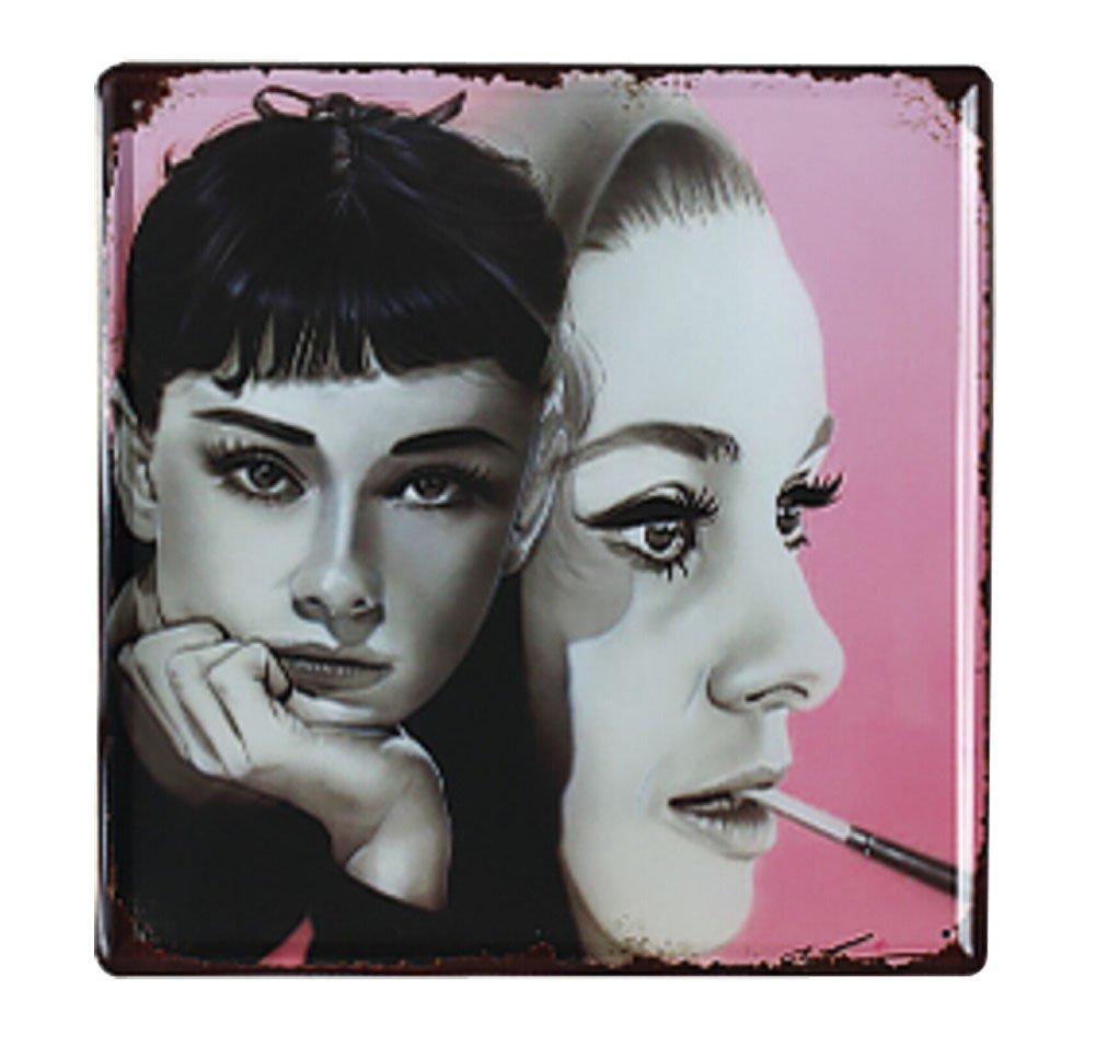 Fiche American Country Creative Fer Peinture Tentures murales, Audrey Hepburn Blancho Bedding