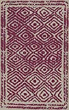 2.5' x 8' Diamond Essence French Rose and Ivory Hand Woven Wool Throw Rug Runner