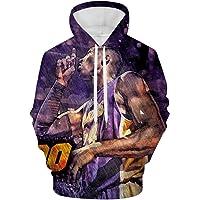 1985 Bryant-Ko-be Hoodies Unique Mens Sweatshirt Soft 3D Double-Sided Full-Frame Printing