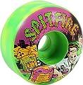Spitfire Wheels Formula Four Classic Toxic Apocalypse Green / Yellow / Pink Skateboard Wheels - 56mm 99a (Set of 4)