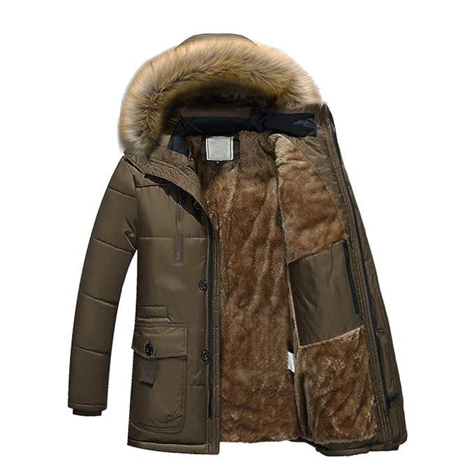 Amazon.com: Teresamoon Men Winter Warm Hooded Zipped Thick Solid Fleece Coat Cotton-Padded Jacket (Most Wished & Gift Ideas): Garden & Outdoor