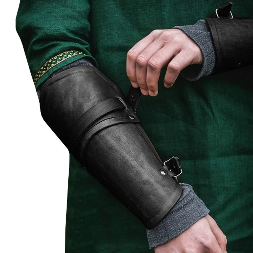 Faux Leather Gauntlet Bracer