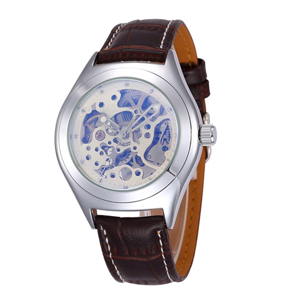 SHENHUAゴールド調自動機械腕時計スケルトンhollow-out腕時計 3# B06Y2VDDN3