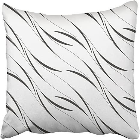 Grey Striped White linear Pillow Cover