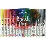 Ecoline Brush Pens 15 Stifte Set, flüssige Wasserfarbe