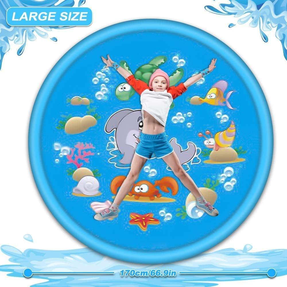 Sommer Garten Wasserspielzeug f/ür Baby 170CM Splash Pad Hund und Haustiere Sylanda Spielmatte Splash Play Matte-Sprinkler Wasser Kinder