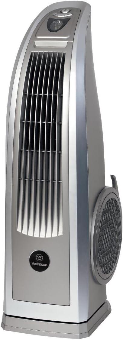 Westinghouse Lighting Ethos Ventilador de pie, Mando a Distancia, 87 W, 3 Velocidades, Plata