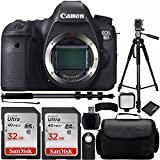 Canon EOS 6D DSLR Camera Body Bundle with Carrying Case and Accessory Kit (10 Items)