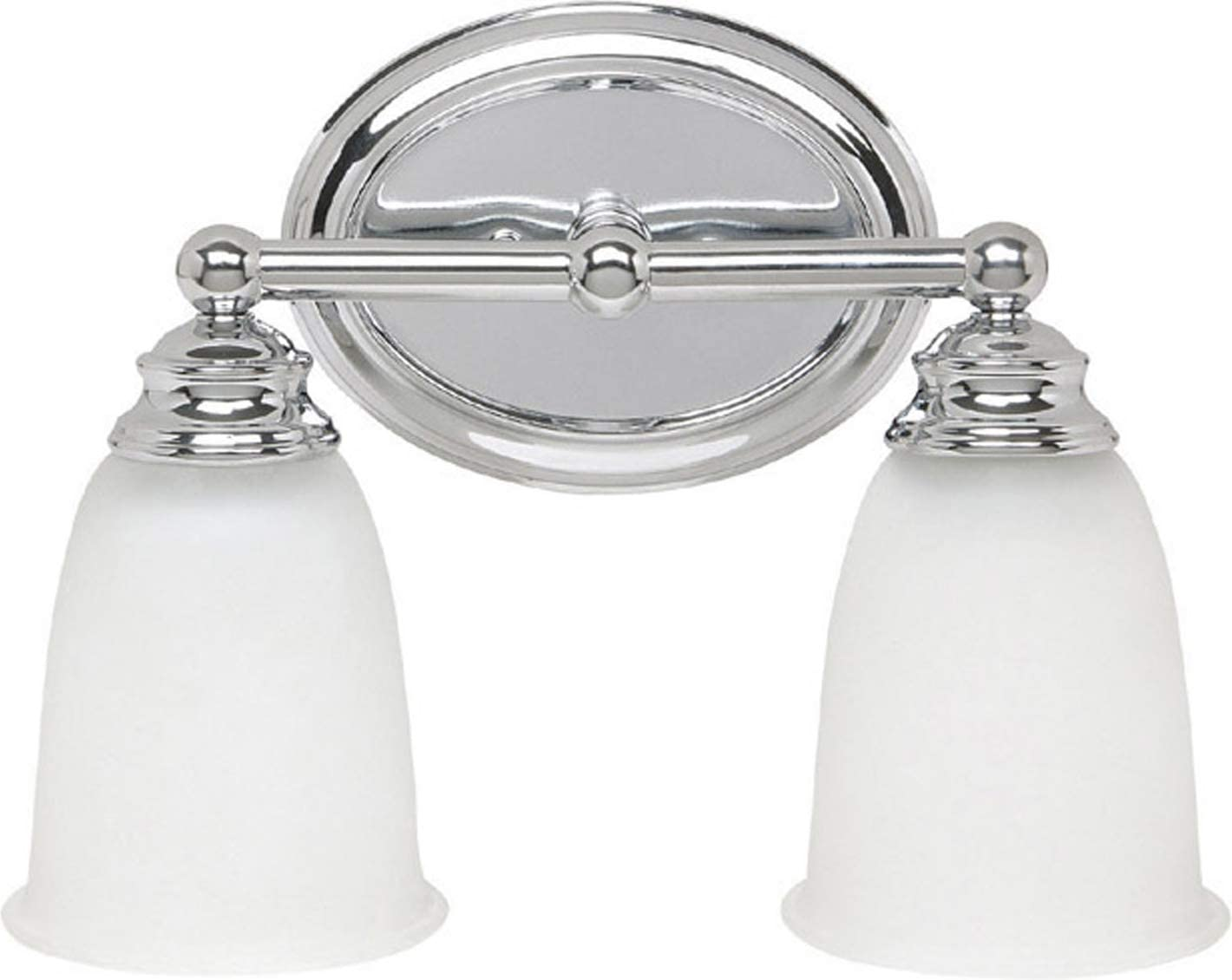 Capital Lighting 1082CH-132 Vanity with Acid Washed Glass Shades, Chrome