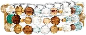 Venus Accessories Women's Rhodium Plated Alloy Bracelet