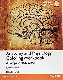 anatomy and physiology coloring workbook a complete study guide global edition elaine n marieb 9781292061290 amazoncom books - Anatomy And Physiology Coloring Book