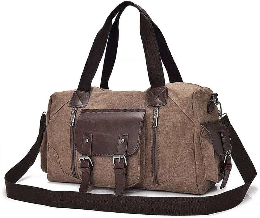 Amazon Black Sales Friday Cyber Sales Monday Ofertas y ventas - Bolsa grande de lona para el hombro, mochila de viaje, bolsa de viaje para mujer y hombre