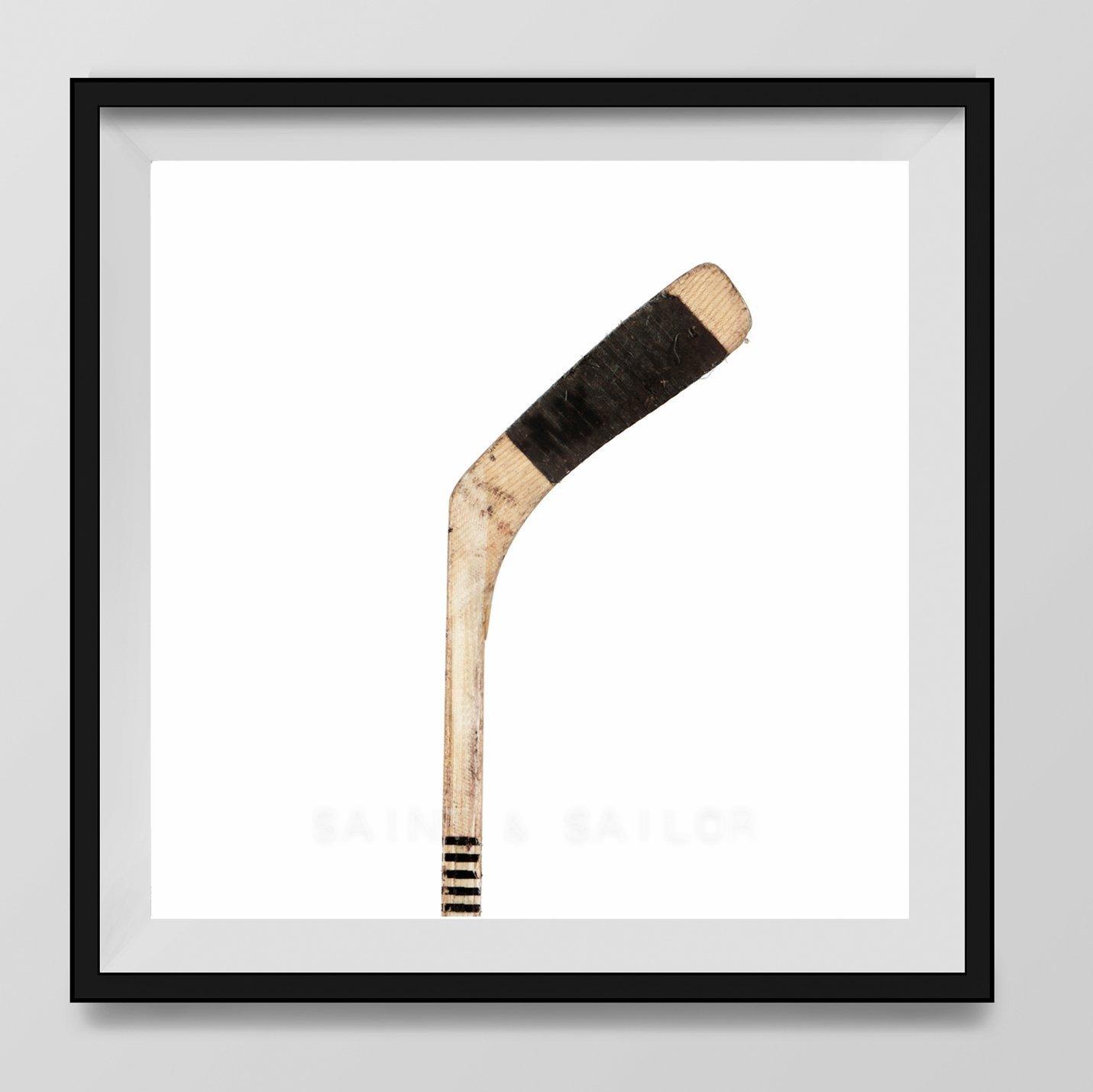 Vintage Hockey Stick on White Background Fine Art Photography Print, Vintage Sports Nursery Art, Sports Decor, Man Cave art, Sport Prints, Boys Nursery decor, Kids Room Wall Art,