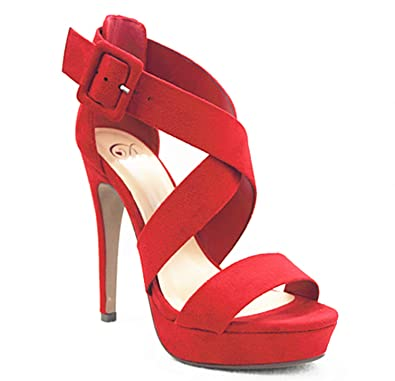 72adaf5aef64 Image Unavailable. Image not available for. Color  MVE Shoes Women s Open  Toe Strappy High ...