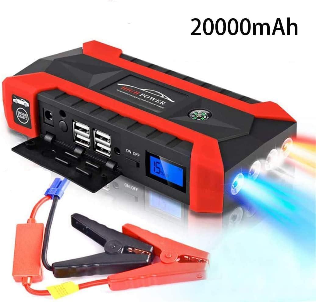 89800mah Car Battery Jump Starter Pack Tragbares Elektrowerkzeug Ladegerät Für 12 V Motorrad Boot Rv Mit Klemmen Auto