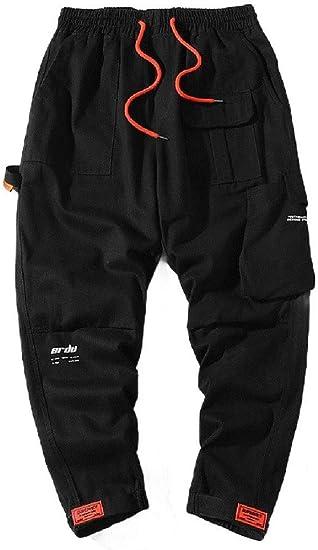 AngelSpace メンズ ビッグ ポケット ワークウェア レンジャー パンツ リラックス フィット カジュアル パンツ