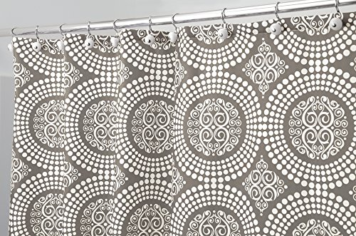 mDesign Medallion Fabric Shower Curtain