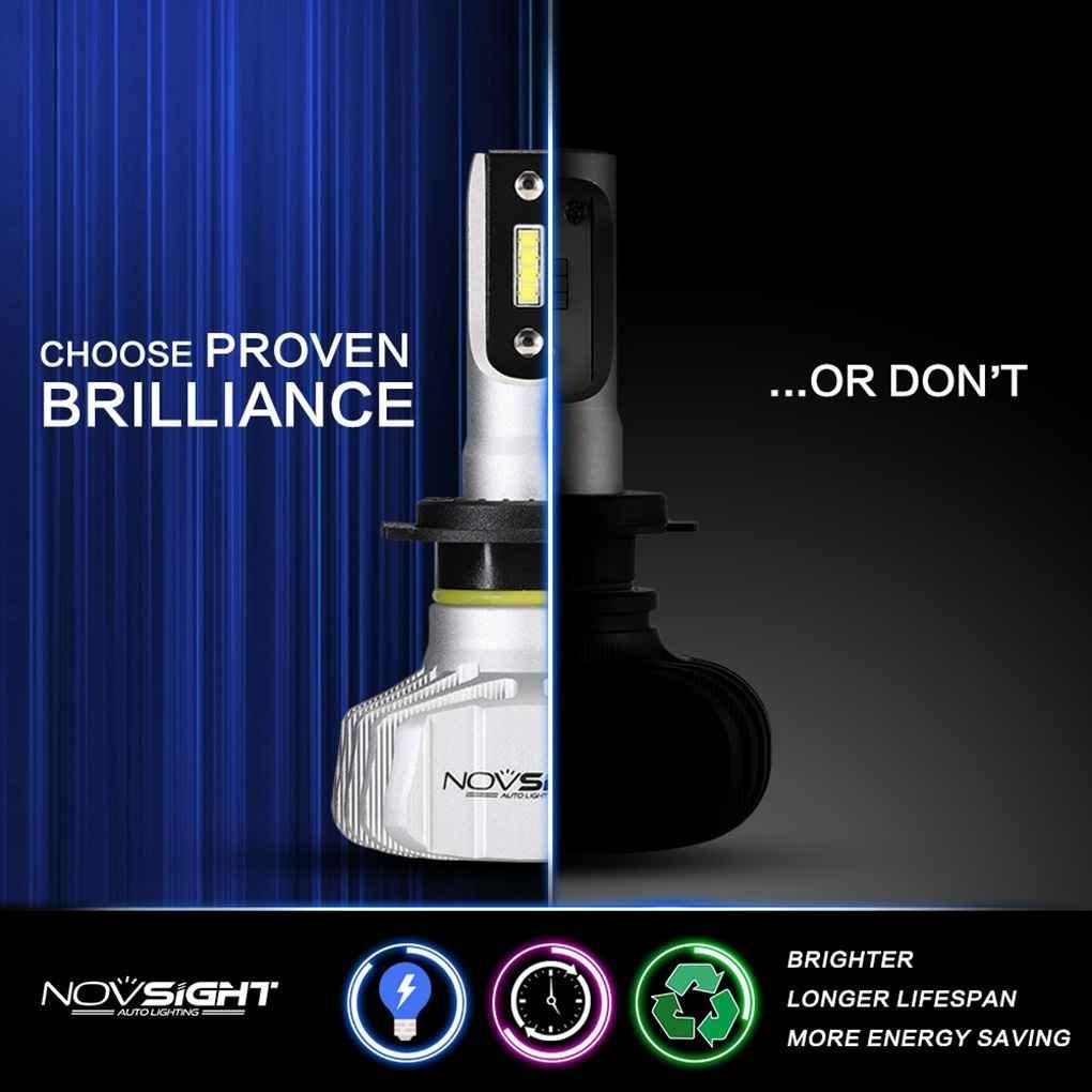 Car Electronics & Accessories EgalBest 2Pcs Novsight N15 Auto Car H1 6000K 10000LM Headlight White Automobiles Replace Light Bulb Car Dash Mounting Kits