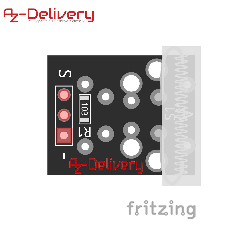 031 erschuetterung klopf sensore modulo sensore di collisione per Arduino AZDelivery ⭐⭐⭐⭐⭐ Set KY