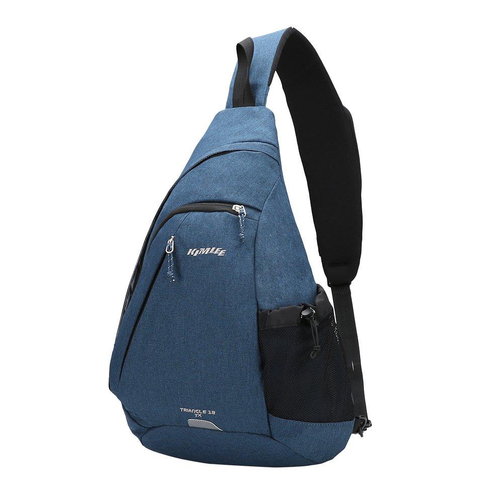 Kimlee Sling Backpack Canvas Chest Shoulder Bag Crossbody Travel Water Resistant Pack For Men Women OIWAS