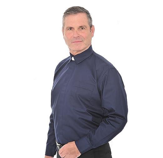 Hammond and Harper - Camisa de clérigo con cuello adjunto Azul azul marino 15: Amazon.es: Ropa y accesorios