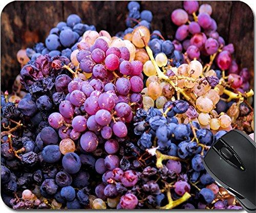 Cotes Du Rhone Grapes (MSD Natural Rubber Mousepad Mouse Pads/Mat design: 30198495 Harvesting grapes Close up of grapes inside a bucket France)