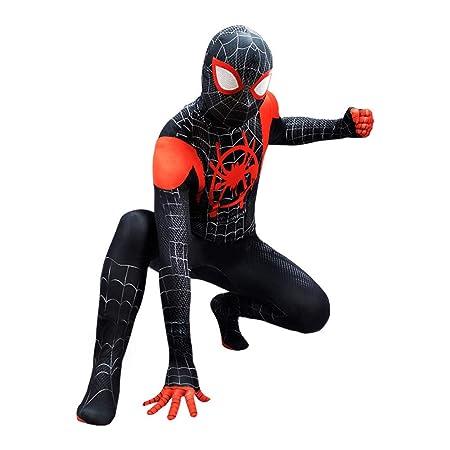 YIWANGO Adulto del Niño Disfraz De Spiderman Impresión Digital 3D ...