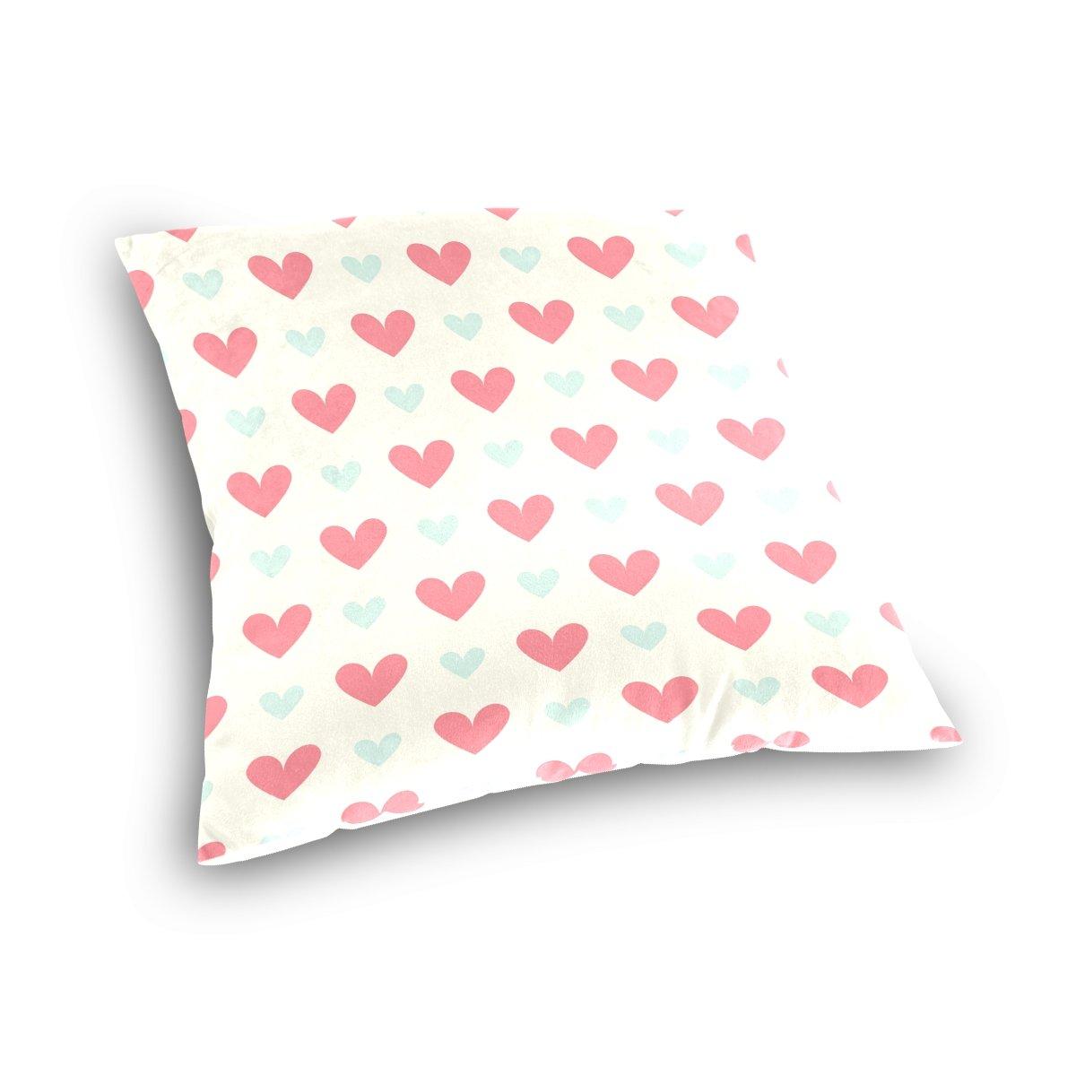 Amazon.com: Ye Store rojo y azul patrón de corazón algodón ...