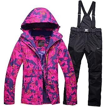 HUA&X Las mujeres coat ski pantalones rompevientos ...