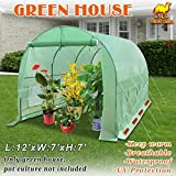 Strong Camel Walk In Green House 12' X 7' X 7' Plant Gardening Greenhouse Large Hot House