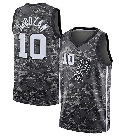 LCY Camiseta de Baloncesto de los Hombres - NBA Spurs # 10 DeRozan ...