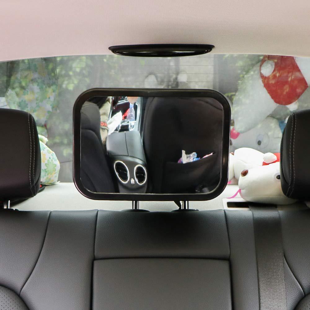 Weitwinkel-Babyspiegel zum Betrachten von Kleinkindern Baby-Autospiegel Autositzspiegel f/ür Baby