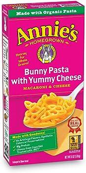 12-Pk. Annie's Homegrown 6 oz. Fun Shaped Cheddar Pasta