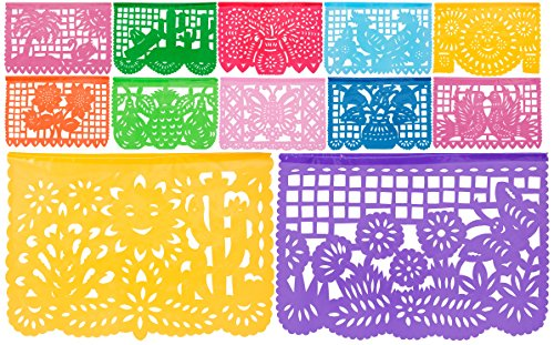 Plastic Medium Mexican Papel Picado Banner