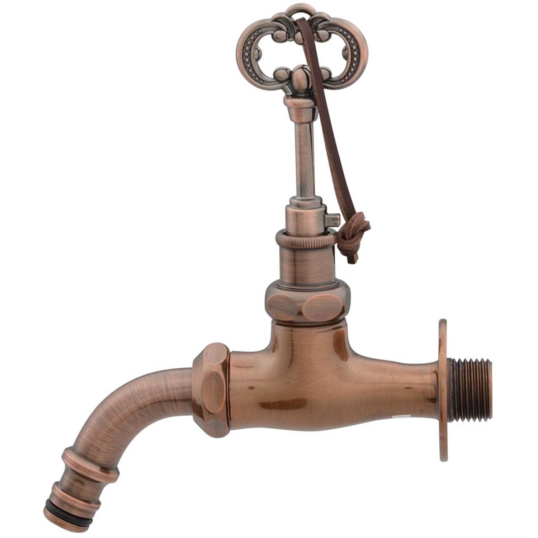 カクダイ ガーデン用水栓 共用万能ホーム水栓 ブロンズ 701-374-13 B01BL7I4O4  アンティーク