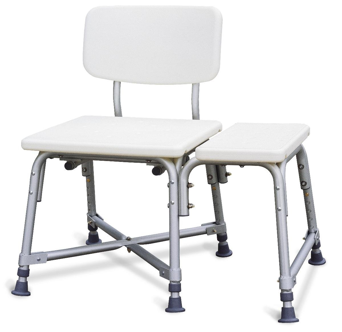 Medline Bariatric Heavy Duty Medical Transfer Bench, with Adjustable Height and 6 Heavy Duty Supporting Legs for Extra Stability by Medline