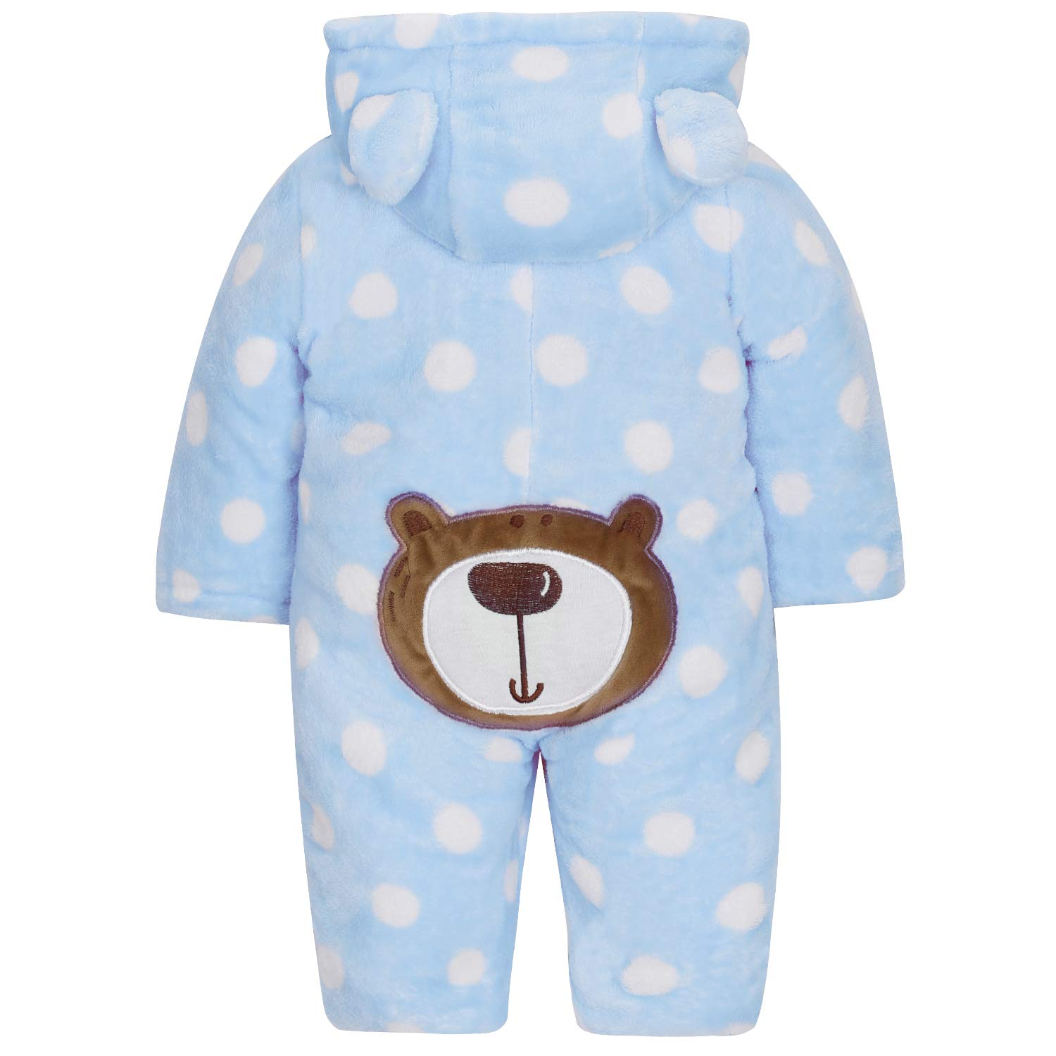 SANMIO Baby Hooded Romper Fleece Snowsuit Infant Onesies Footed Jumpsuit Fall Winter Outwear Outfits