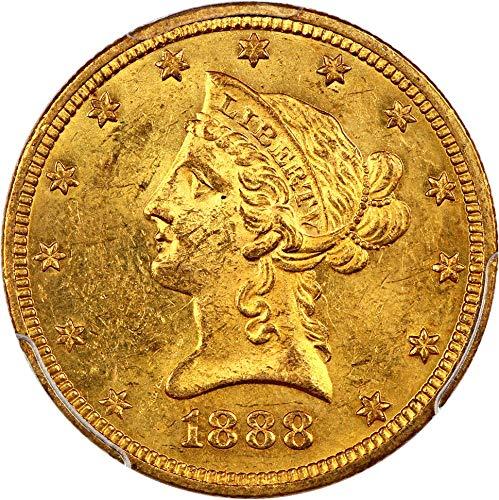 1888 O $10 Liberty Gold Ten Dollar MS62 ()