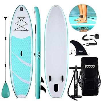 Triclicks Tabla Hinchable Paddle Surf/Sup Paddel Surf con Bomba, Mochila, Aleta Central