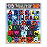 Alphabet and Shapes Gel Window and Wall Clings for Kids and Toddlers - (36 pc) ABC Letters, Octagon, Square and More with Silly Faces – Reusable Learning Fun for Home, Travel, Teachers or Classroom