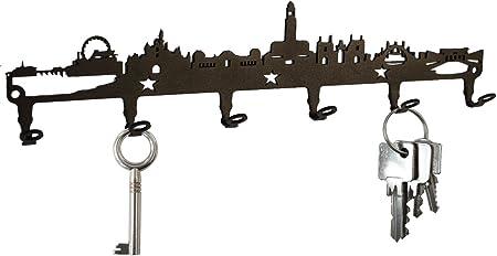 London Skyline Pannello portachiavi ganci acciaio